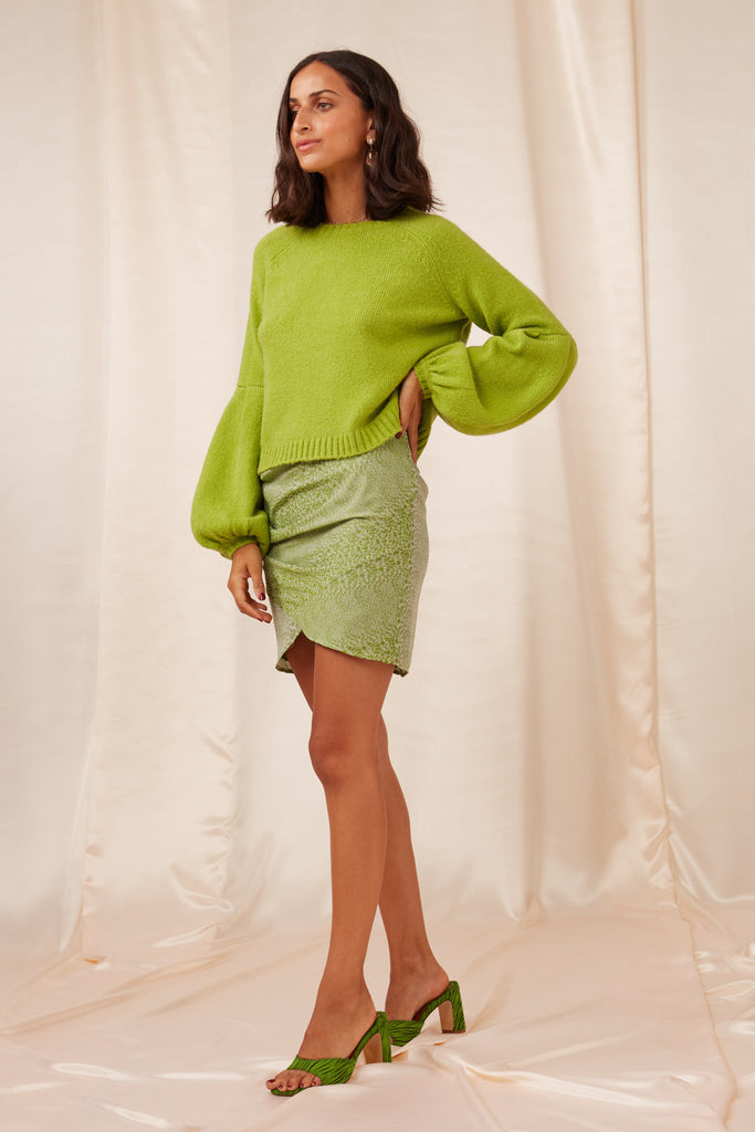 CARLOTTA KNIT apple