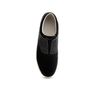 Men's Knight Black White Leather Loafers 00184-998 - ROYAL ELASTICS