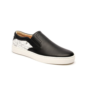 Women's Ketella Black Gray Leather Loafers - ROYAL ELASTICS