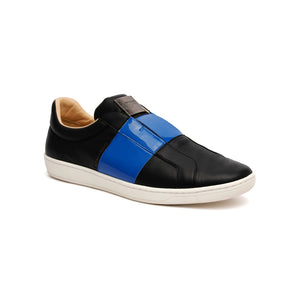 Men's Duke Straight Black Blue Leather Sneakers 00584-995 - ROYAL ELASTICS