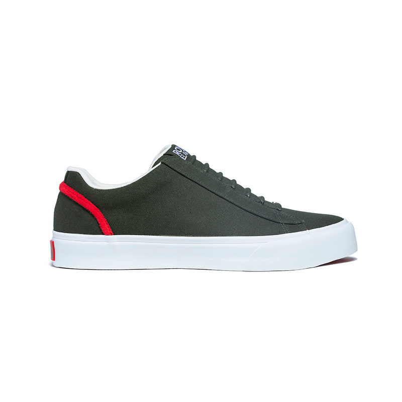 Men's Cruiser Green Nylon Low Tops 00601-441 - ROYAL ELASTICS