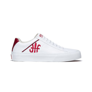 Women's Cruiser White Red Microfiber Low Tops 90801-001 - ROYAL ELASTICS