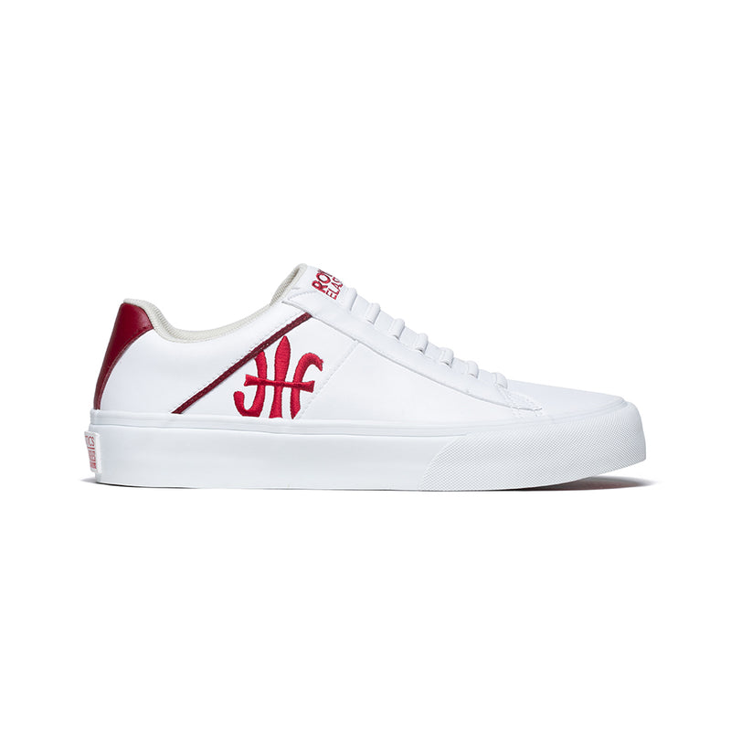 Women's Cruiser White Red Microfiber Low Tops 90801-001