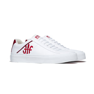 Men's Cruiser White Red Microfiber Low Tops 00801-001 - ROYAL ELASTICS