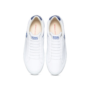Men's Cruiser White Blue Microfiber Low Tops 00801-005 - ROYAL ELASTICS
