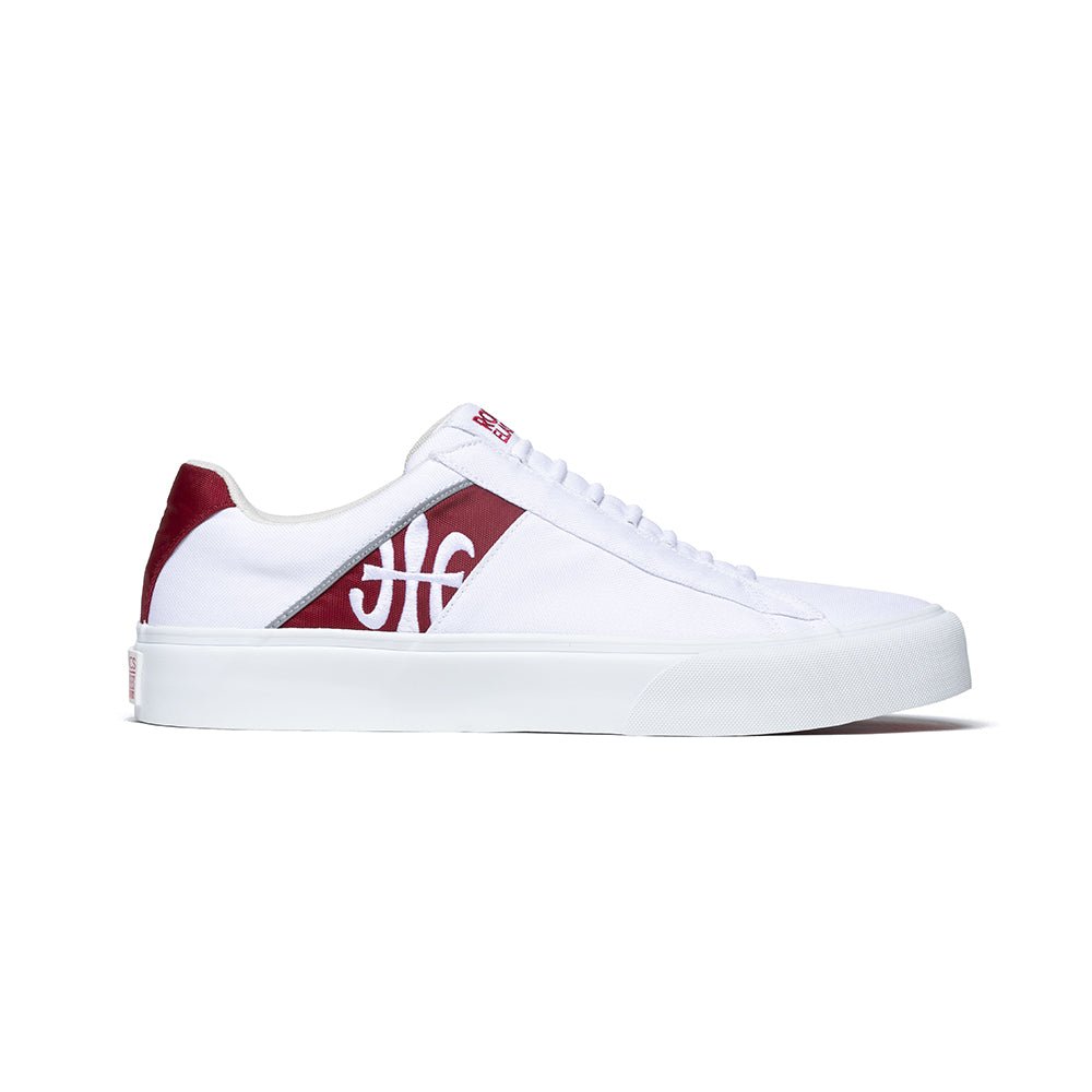 Women's Cruiser White Red Nylon Low Tops 90801-100 - ROYAL ELASTICS