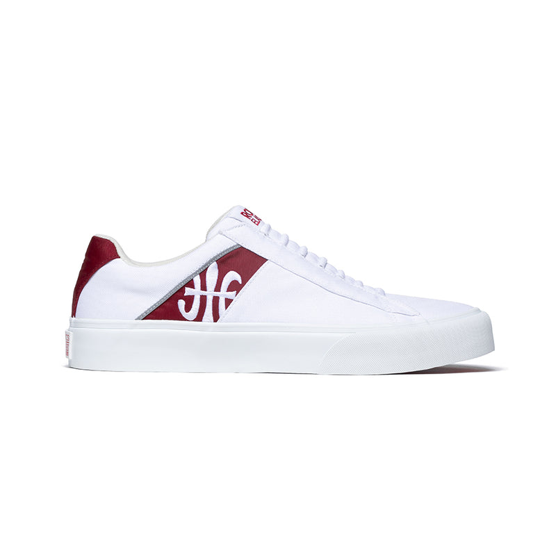 Men's Cruiser White Red Nylon Low Tops 00801-100 - ROYAL ELASTICS