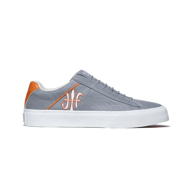 Men's Cruiser White Gray Orange Nylon Low Tops 00801-882