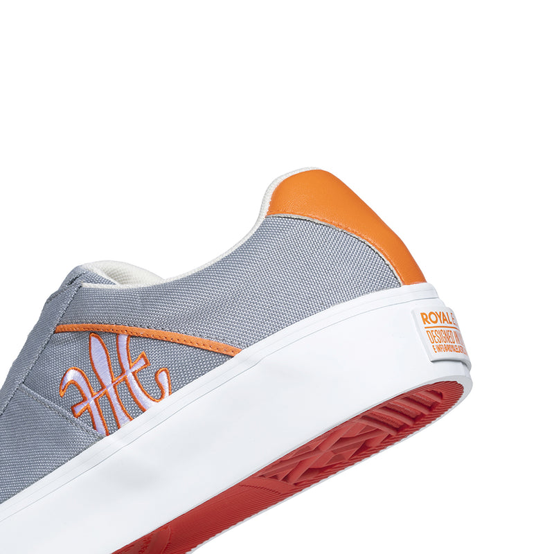 Men's Cruiser White Gray Orange Nylon Low Tops 00801-882 - ROYAL ELASTICS