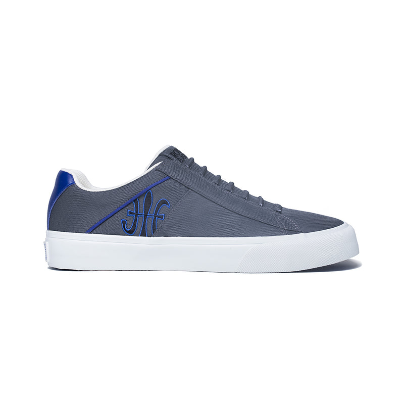 Men's Cruiser White Blue Black Nylon Low Tops 00801-858