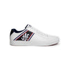Men's Cruiser White Blue Microfiber Low Tops 00881-051 - ROYAL ELASTICS