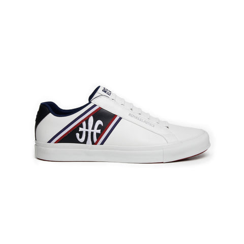 Men's Cruiser White Blue Red Microfiber Low Tops 00881-051