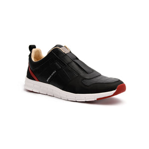 Women's Rider Black Red Blue Leather Sneakers 91184-915 - ROYAL ELASTICS