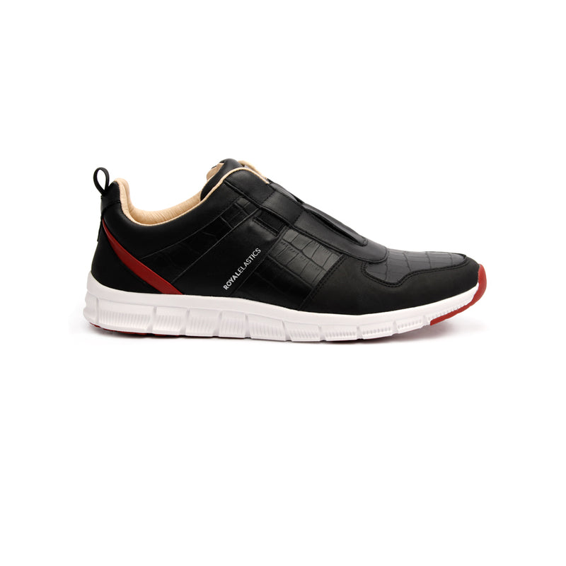 Women's Rider Black Red Blue Leather Sneakers - ROYAL ELASTICS