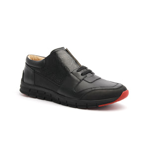 Men's Midnight Rider Black Leather Sneakers 01283-999 - ROYAL ELASTICS