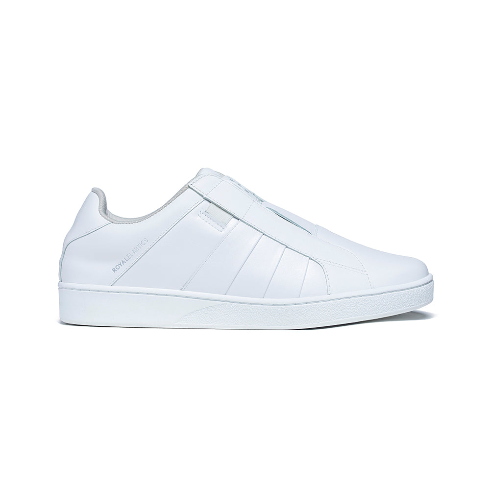 Men's Prince Albert White Leather Sneakers 01401-000