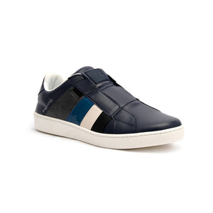 Men's Prince Albert Navy Leather Sneakers 01484-589 - ROYAL ELASTICS