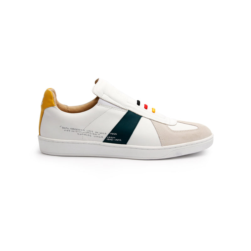 Men's Smooth Multicolored Leather Low Tops - ROYAL ELASTICS