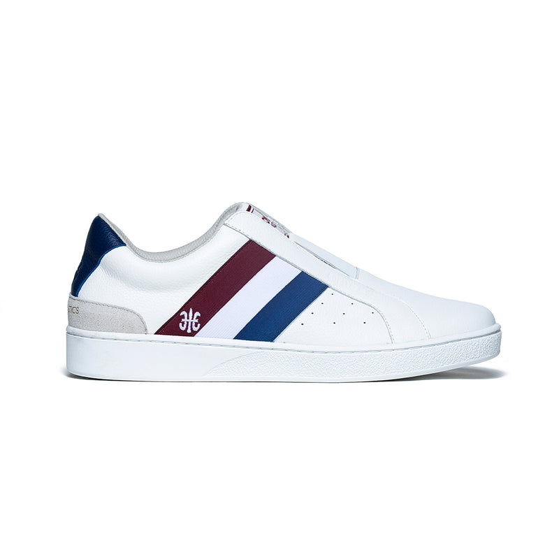 Men's Bishop White Red Blue Leather Sneakers 01701-015 - ROYAL ELASTICS