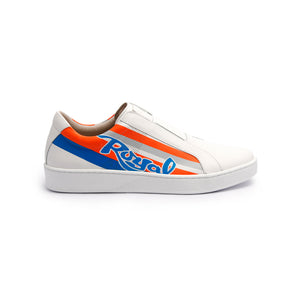 Men's Bishop Color Line Blue Orange Gray Leather Sneakers 01791-025 - ROYAL ELASTICS