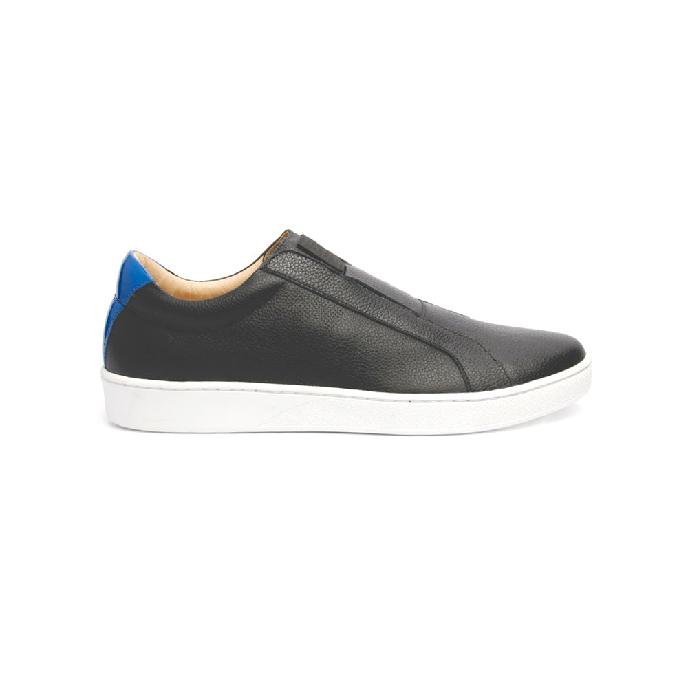 Women's Bishop Classic Black Blue Leather Sneakers 91791-995 - ROYAL ELASTICS