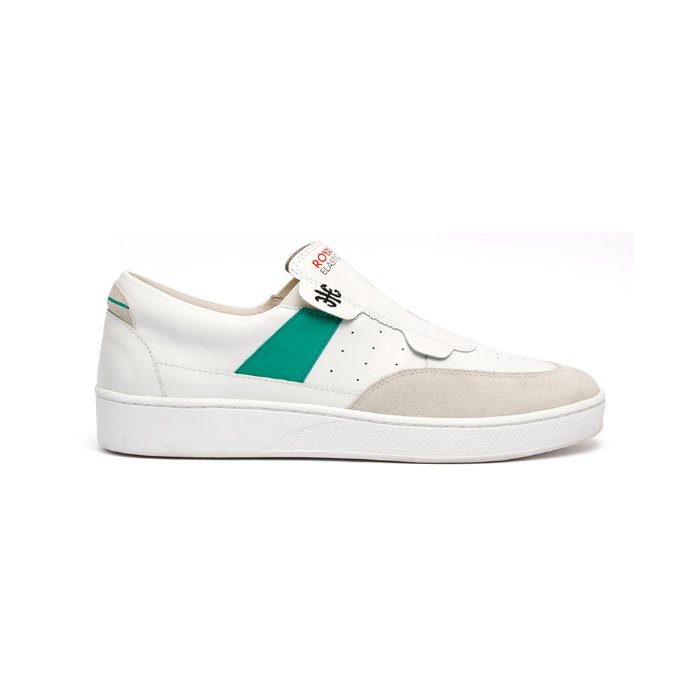 Men's Pastor White Green Leather Sneakers 01891-004