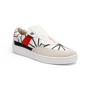 Men's Pastor JP Limited White Leather Sneakers 01891-091 - ROYAL ELASTICS