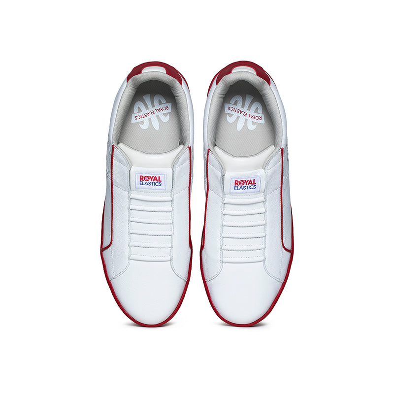 Men's Icon Genesis White Red Leather Sneakers 01901-001 - ROYAL ELASTICS