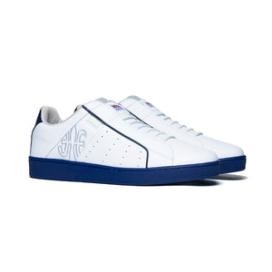 Men's Icon Genesis White Blue Leather Sneakers 01901-005 - ROYAL ELASTICS