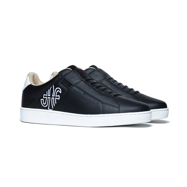 Men's Icon Genesis Black White Leather Sneakers 01901-990 - ROYAL ELASTICS