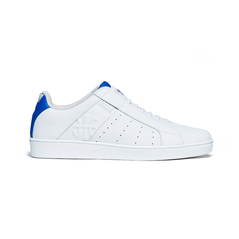 Men's Icon Genesis Blue White Logo Leather Sneakers 01902-005