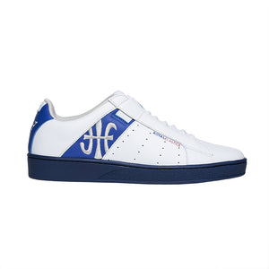 Men's Icon Genesis White Blue Leather Sneakers 01902-058