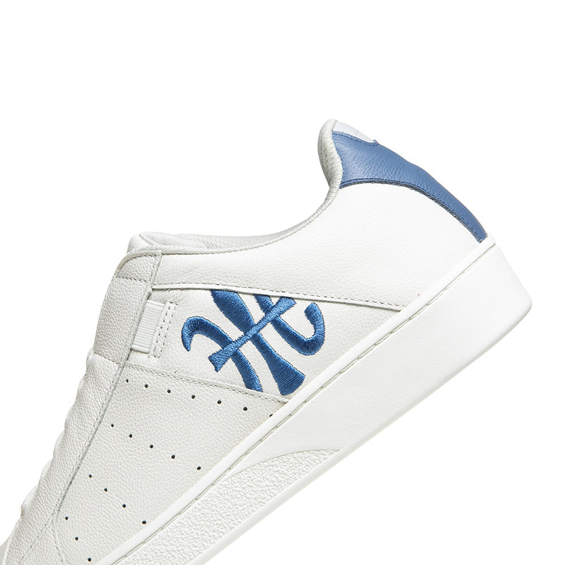 Men's Icon Beige Blue Logo Leather Sneakers 01903-015