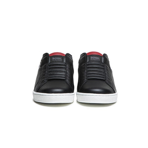 Men's Icon Black Red White Leather Sneakers 01903-991