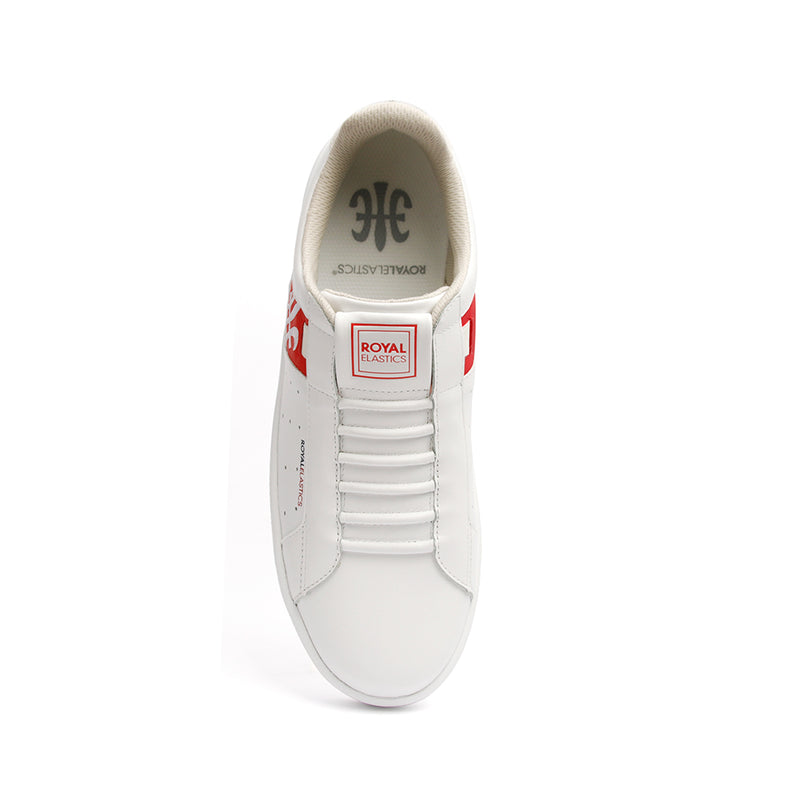 Men's Icon Genesis Chunk White Red Leather Sneakers 01992-013 - ROYAL ELASTICS