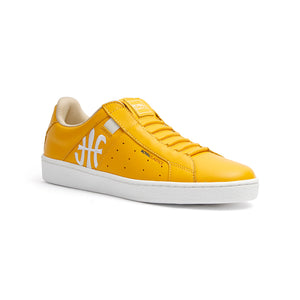Men's Icon Genesis Spotlight Yellow White Leather Sneakers 01993-333 - ROYAL ELASTICS