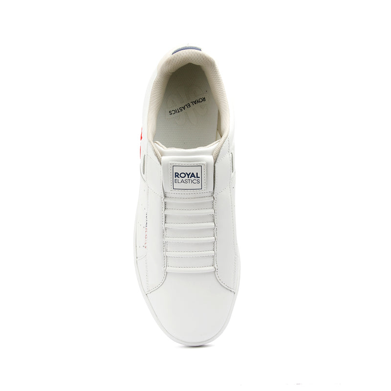 Men's Icon Genesis White Red Leather Sneakers 01901-015 - ROYAL ELASTICS
