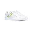 Men's Icon Genesis White Green Leather Sneakers 01994-040