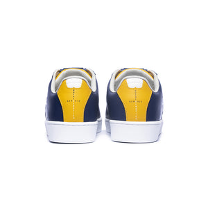 Men's Icon Genesis Blue Yellow White Leather Sneakers 01994-583 - ROYAL ELASTICS