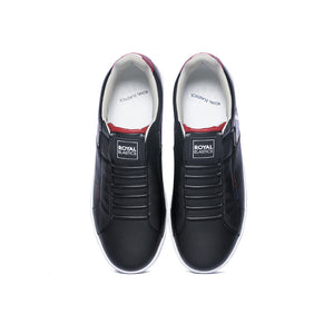 Men's Icon Genesis Black Red White Leather Sneakers 01994-991 - ROYAL ELASTICS