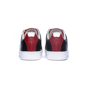 Women's Icon Genesis Black Red White Leather Sneakers 91994-991 - ROYAL ELASTICS