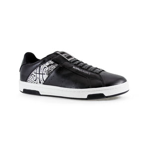 Men's Icon Alpha Black Gray Microfiber Sneakers 02081-899 - ROYAL ELASTICS