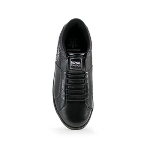 Women's Icon Black Leather Sneakers 92081-999 - ROYAL ELASTICS