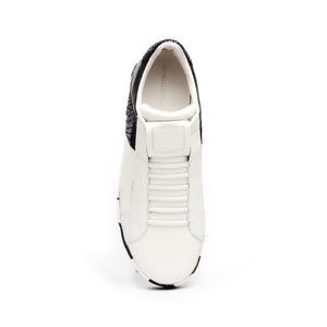 Men's Icon Deejay White Blue Black Leather Sneakers 02082-059 - ROYAL ELASTICS