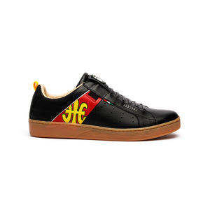 Men's Icon Manhood Black Red Yellow Leather Sneakers 02082-913 - ROYAL ELASTICS