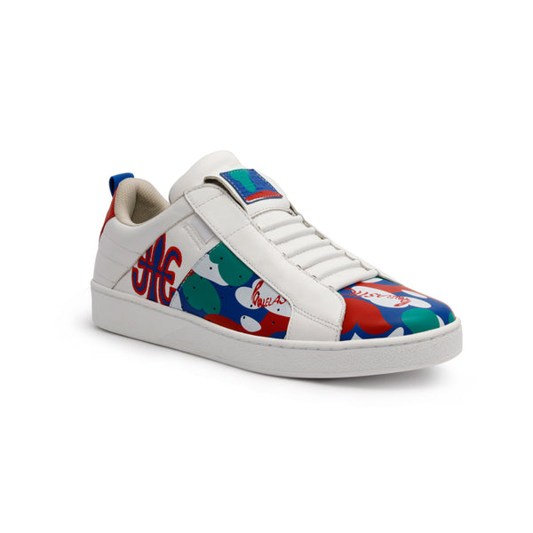 Men's Icon Manhood Camouflage Red Blue Green Leather Sneakers 02091-145 - ROYAL ELASTICS