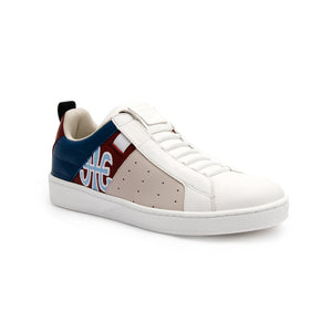 Men's Icon Manhood White Blue Maroon Leather Sneakers 02091-815 - ROYAL ELASTICS