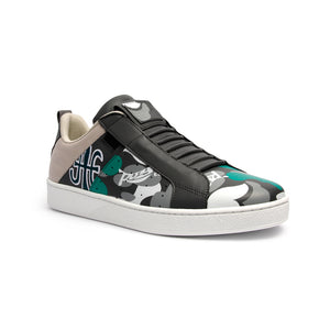 Men's Icon Manhood Camouflage Gray Green White Leather Sneakers 02091-840 - ROYAL ELASTICS