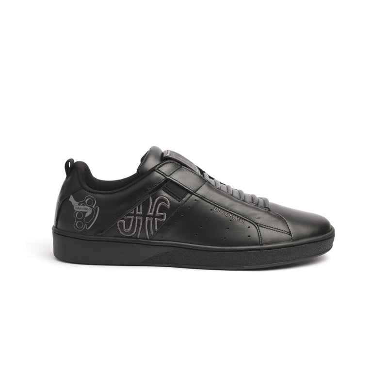 Men's Icon Manhood Black Leather Sneakers 02091-990 - ROYAL ELASTICS