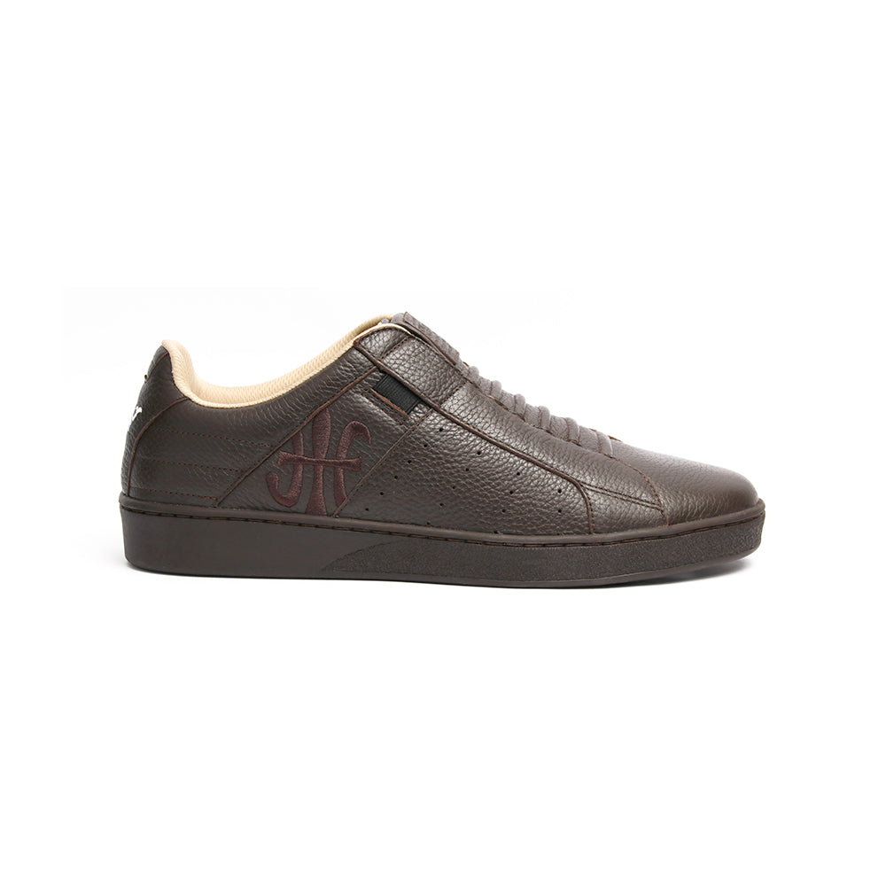 Men's Icon Classic Dark Brown Leather Sneakers 02092-777 - ROYAL ELASTICS